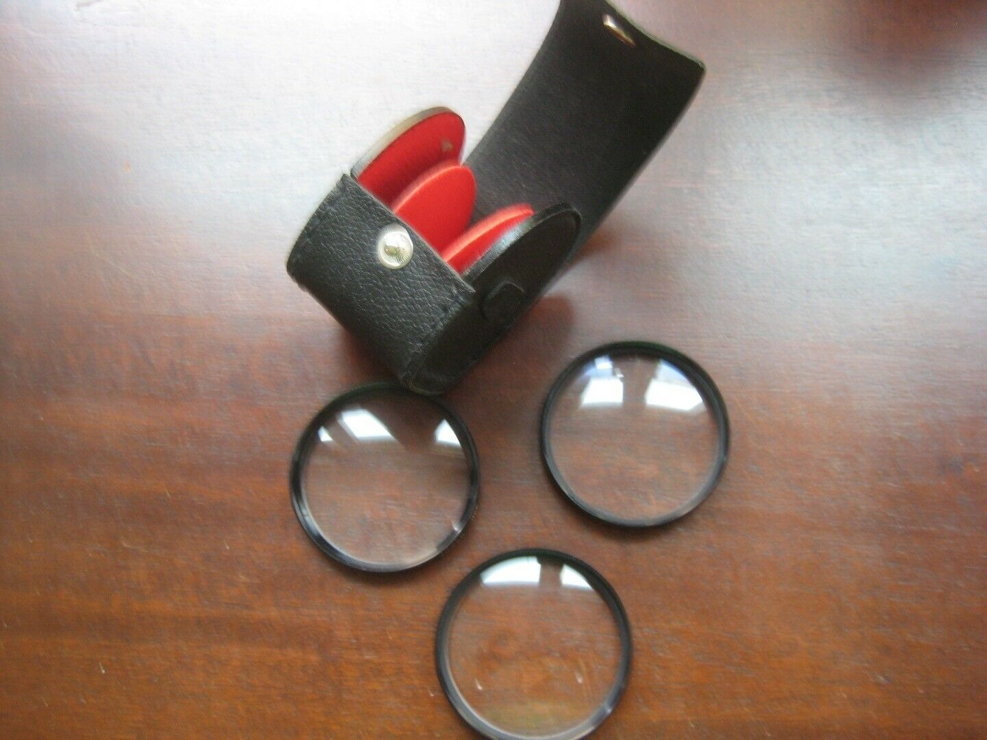 3 Tiffen HCE 52mm 1, 2, & 3, zoom filters made in Japan three slot case included - $19.59