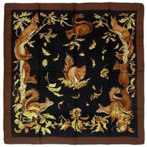GRAIL Hermes Scarf ECUREUILS Vintage Silk Carre XAVIER DE PORET 90cm - $549.95