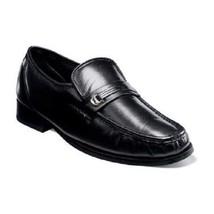 Florsheim Mens shoes Dancer Moc Toe Slip On Black kidskin Leather 11002-01  - $119.99