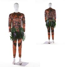 Moana Maui Cosplay Costume Mens Tattoo T Shirt Pants Halloween Outfits - $50.02