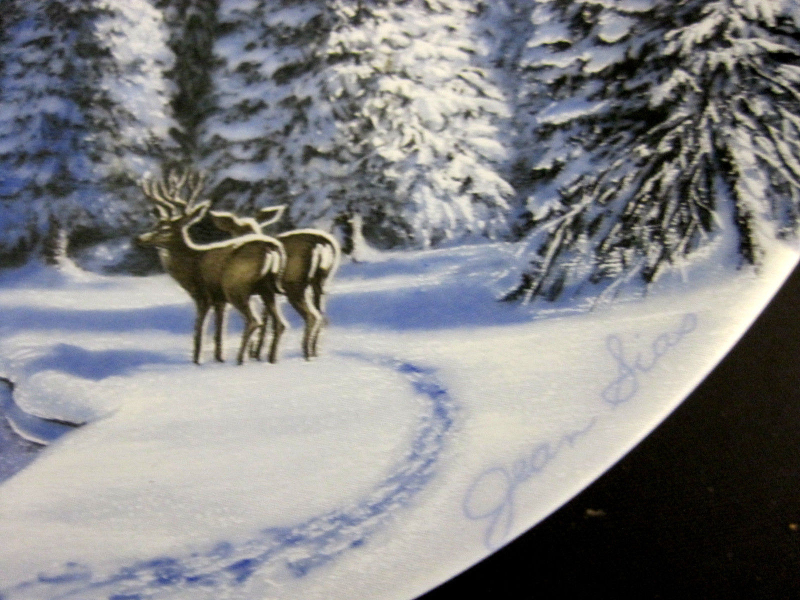 Blue Snow At Half Dome Collector Plate 1990 by Jean Sias Wildlife Society image 2