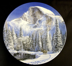 Blue Snow At Half Dome Collector Plate 1990 by Jean Sias Wildlife Society image 1
