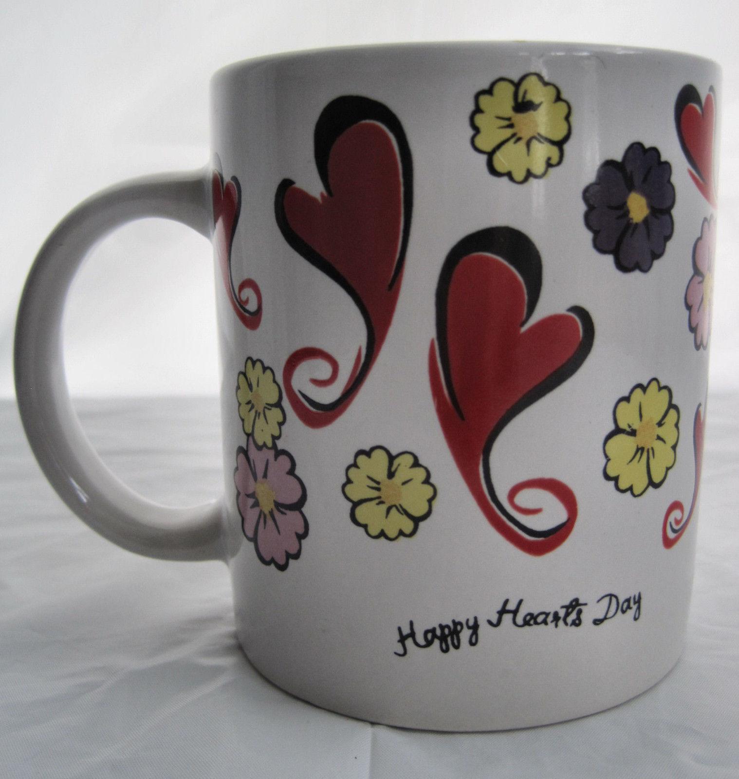 Happy Hearts Days Valentine Coffee Latte Tea Drinking Cup Mug