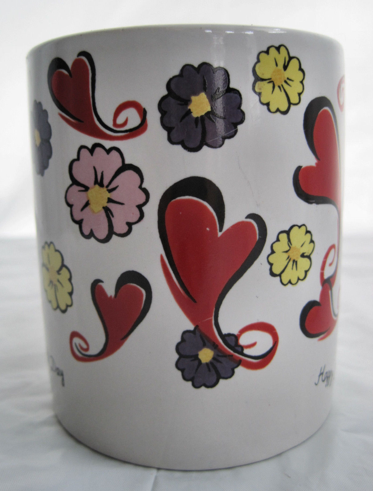 Happy Hearts Days Valentine Coffee Latte Tea Drinking Cup Mug image 2
