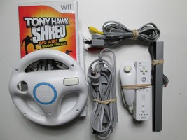 Nintendo Wii Console Lot Video Game System W/Game White - Tested & Works... - $69.99