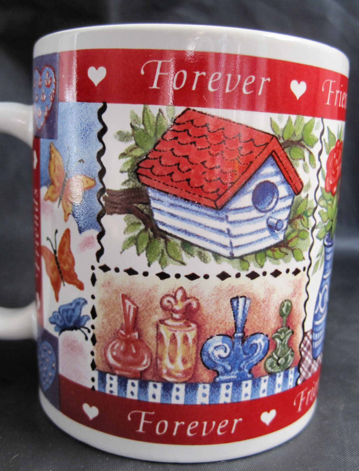 Avon Friends Forever Valentine Hearts Coffee Latte Tea Drinking Cup Mug