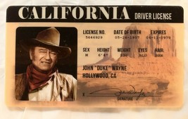 John Wayne Drivers License Novelty ID Card Duke Cowboy Western Californi... - $7.00