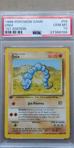 Onix 56/102 PSA 10 GEM MINT 1999 Pokemon 1st Edition FRENCH Base Set - $49.99