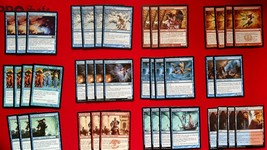 MTG Blue Red Dismiss Into Dream Sway Of Illusion Combo Deck Box Sleeves Magic - $18.95