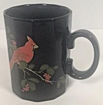 Otagiri Japan  - 12 Sided - Red Cardinal- Coffee Mug / Tea Cup - Black F... - $12.00
