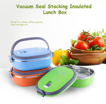 Vacuum Seal Stacking Insulated Lunch Box Stainless Steel Thermal Insulat... - $19.75+