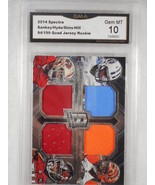 2014 Spectra 94/199 Sankey/hyde/sims/Hill Quad Relic Rookie GMA Graded G... - $24.74