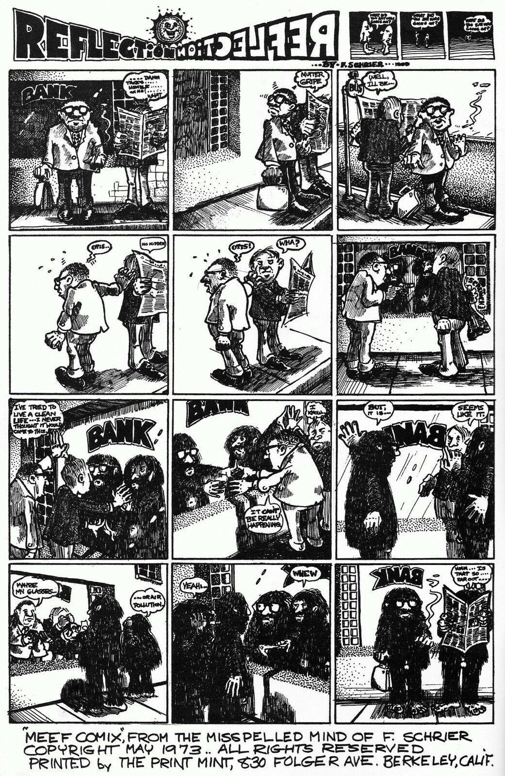 MEEF 2, Dave Sheridan, Fred Schrier, Print Mint 1973 Classic Underground Comix -