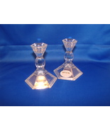 Vintage Pair of 24% Lead Crystal Candlesticks Michael C. Fina - $7.99