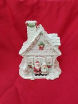 """Lenox Porcelain Music Box """"Greetings From The North Pole"""" Santa Claus Is Coming - $67.32"""