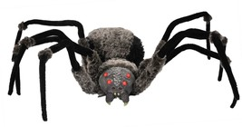Huge Scary GIANT SPIDER with LED EYES 4.5-foot wide Haunted House Hallow... - $89.07