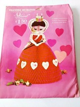 Valentine Decoration Queen Of Hearts By Laurel New 1969 - $39.59