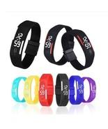 Rubber LED Bracelet Women Watch Date Sports Men Digital Wristwatches Clo... - $9.99