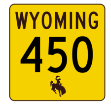 Wyoming Highway 450 Sticker R3546 Highway Sign - $1.45+