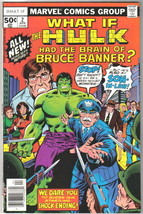 What If? Comic Book #2 The Hulk Had Brain of Bruce Banner Marvel 1977 VE... - $4.75