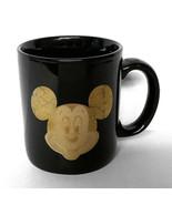 Disney Mug Gold Mickey Mouse Dark Blue Black Ceramic Cup Coffee Tea  X13 - $19.87