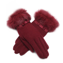 LYZA Women Autumn Warm Wool Full Fingers Gloves Winter Travel Elegant Gl... - $30.99