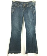 Decree Flare Jeans Juniors Size 3 Stretch Flared Leg Blue Denim Boho - $6.67