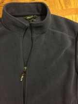 EDDIE BAUER Mens Gray Full Zip Fleece Two Pocket Vest Size 2XL HOODLESS image 2