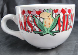 Kiss Me Frog Valentine Hearts Coffee Latte Tea Drinking Cup Mug Large image 2