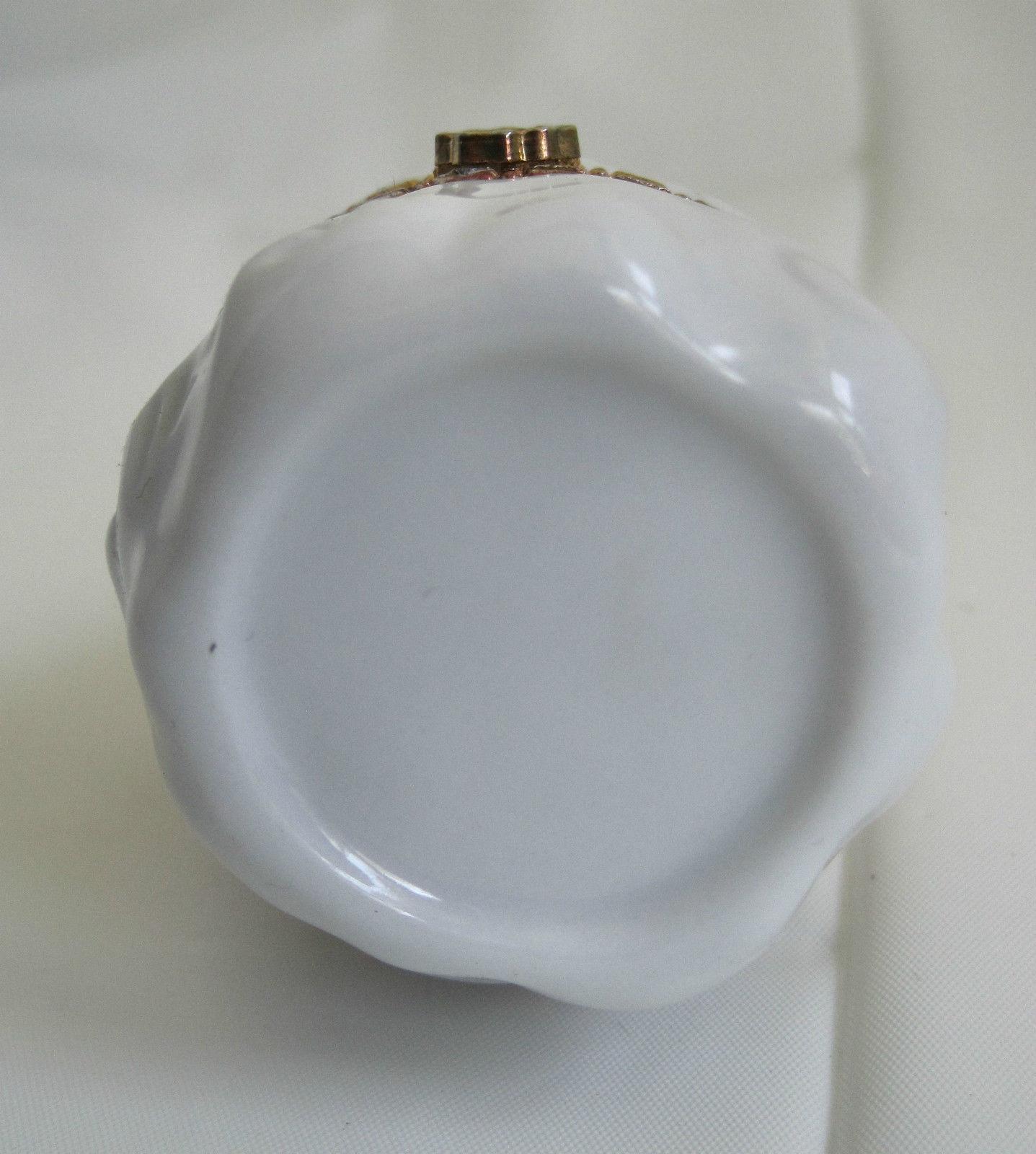 "Hinged Ceramic Trinket Ring Box Lovely Sweet Angel Stars Vintage  3.5"" image 4"