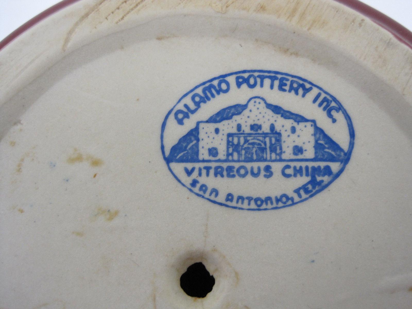 """Alamo Pottery Inc. Burgundy Wine Glazed Large 7"""" Vase Flower Pot Container"""