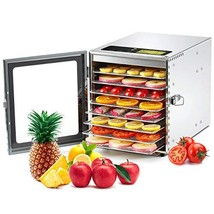 Colzer Food Dehydrator Machine(67 Free Recipes) 8 Stainless Steel (8-Trays) - $235.43