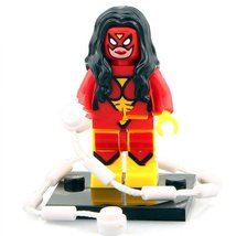 Spider-Woman Comic Verson Lego Toys Superhero Minifigure - $3.25