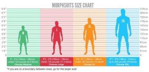 Morphsuit Nero Power Rangers Body pelle Halloween Adulti Costume 78-0317