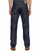 Levi's Men's Shrink To Fit Straight Leg Jeans Button Fly Indigo 501-0000 image 1
