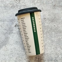 Starbucks Ceramic Tumbler Word Search Double Wall Crossword Coffee Mug 12 Oz - $17.81
