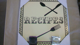 RECIPES WALL PLAQUE WITH METAL CLIPS FROM CONCEPTS - $29.69