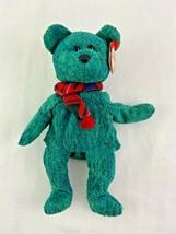 Ty Beanie Baby Wallace Green Bear Plush 1999 - $9.89