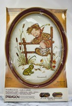 Vintage 1981 Hummel Boy With Frog #0630 Paragon Needlecraft Cross Stitch... - $18.95
