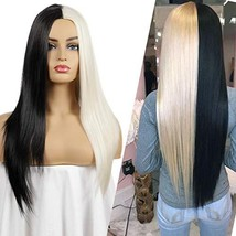 Uniyou Women's Middle Part Wig 28 Inches Long Straight Hair Wigs with Ha... - $27.26