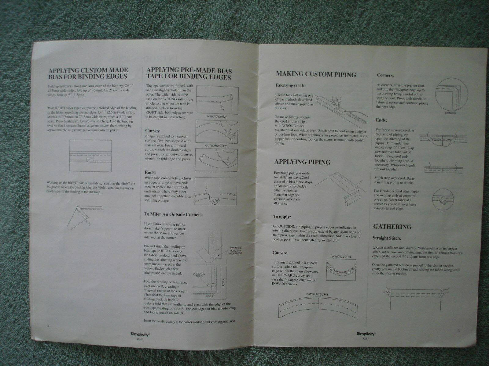 Vtg 1993 Simplicity DECOR Bedding Basics Instructional Pillows Comforters Duvets image 6