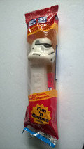Star Wars Clone Storm Trooper Pez Dispenser Red Cello Bag  & Candy 1990s?? - $4.45