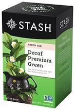 Stash Tea Decaf Premium Green Tea, 18 Count Tea Bags in Foil Pack of 6 - $14.65