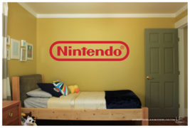"Nintendo Logo Large Wall Vinyl Art Decal 6""X24"" Bedroom Home Decor - $14.95"
