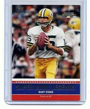 BART STARR - GREEN BAY PACKERS - 2011 TOPPS SUPER BOWL LEGENDS  - CARD #... - $2.95