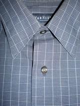 Van Heusen Mens Dress Shirt Cotton Dark Gray M 15 15 1/2 32 33 Winkle Free - $14.99