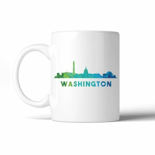 365 Printing Polygon Skyline Multicolor Downtown White Mug image 2