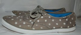 Keds  Gray / Stars Canvas womens size 9 sneakers Tennis shoes - $7.86 CAD