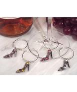 Dazzling Divas Collection Shoe Wine Charms - 60 Sets - $217.95