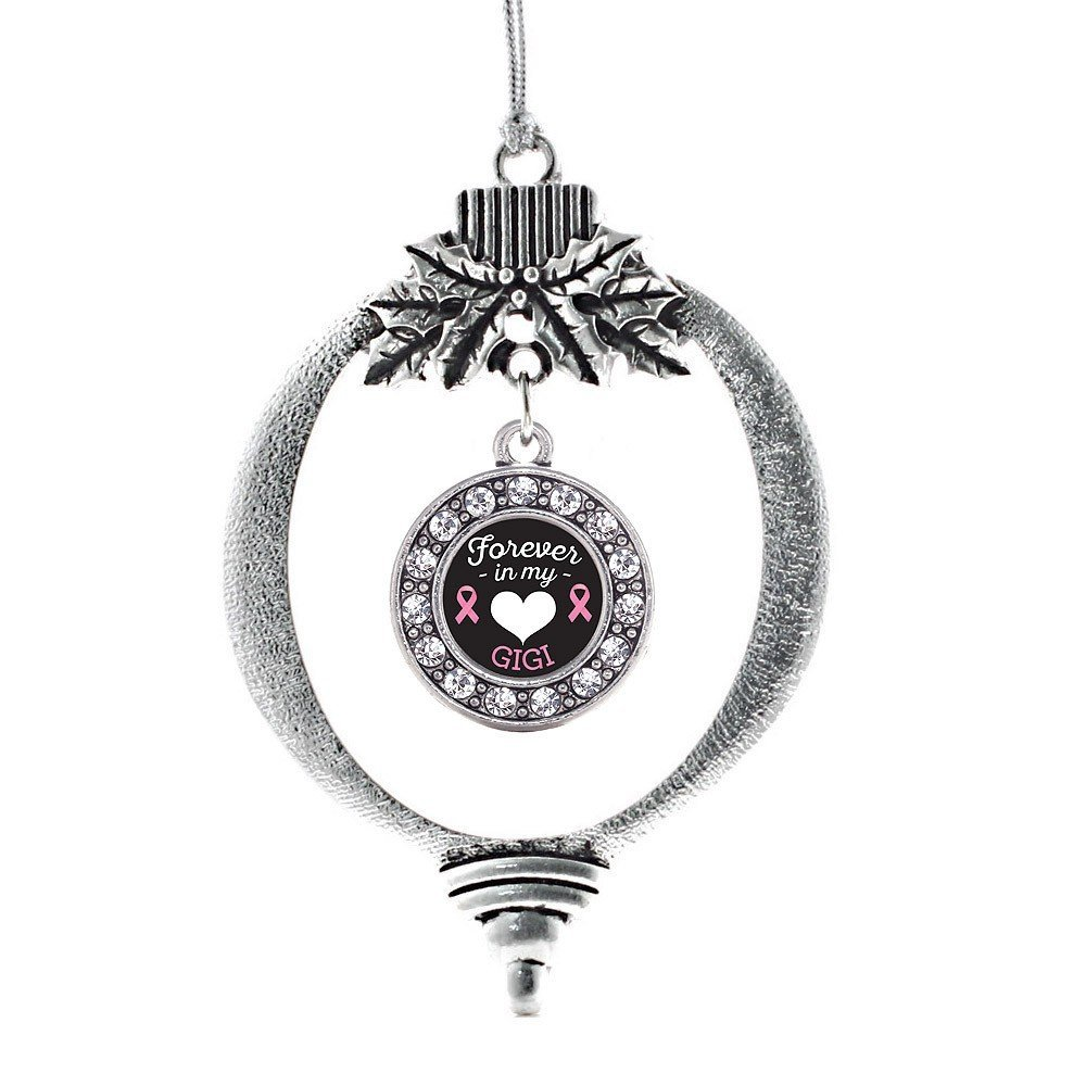 Primary image for Inspired Silver Forever in My Heart Gigi Breast Cancer Support Circle Holiday Ch